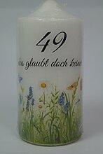Fürhapter Geburtstagskerze Kerze zum 49.