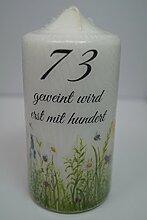 Fürhapter Geburtstagskerze Kerze zum 73.