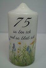 Fürhapter Geburtstagskerze Kerze zum 75.