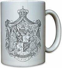Fürstentum Reuß älterer Linie Thüringen Stadtwappen historisch Wappen Abzeichen - Tasse Kaffee Becher #11794