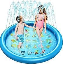 Haustiere 170CM Sprinkler Wasser-Spielmatte Splash Play Matte,Outdoor Sommer Garten Wasserspielzeug Baby Pool Pad Spritzen f/ür Baby Kinder Brillie Splash Pad Aufblasbar