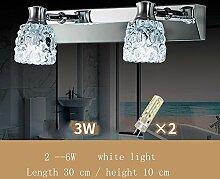 FUFU Badezimmer Kristall-Spiegel-Frontleuchten