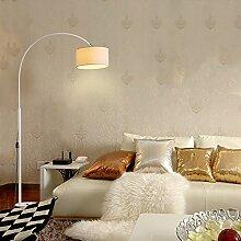 FUFU Rundes Tuch Lampenschirm Schmiedeeisen Stehleuchte Kreative Mode einfach modern Stehleuchte Wohnzimmer Schlafzimmer Stehleuchte (Farbe wahlweise freigestellt) ( Farbe : B )