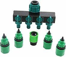 Fugift 1 Set 4-Wege-Wasserhahn-Schlauch-Verteiler,