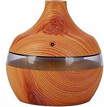 Fuibo 300 ml Ultraschall-luftbefeuchter Luftreiniger LED Ätherisches Öl Diffusor 7 Farbwechsel   Humidifier  Befeuchter für zuhause Yoga Büro SPA Schlafzimmer (Braun)