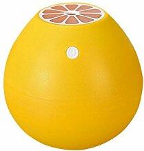 Fuibo 400ML Grapefruit-Befeuchter Silent Mini Fruit Luftbefeuchter   Humidifier  Befeuchter für zuhause Yoga Büro SPA Schlafzimmer (Gelb)