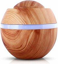 Fuibo 500 ml USB Air Aroma Luftbefeuchter Ultraschall LED 7 Farbwechsel Ätherisches Öl Dif | Humidifier| Befeuchter für zuhause Yoga Büro SPA Schlafzimmer (B)