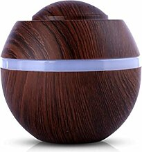 Fuibo 500 ml USB Air Aroma Luftbefeuchter Ultraschall LED 7 Farbwechsel Ätherisches Öl Dif | Humidifier| Befeuchter für zuhause Yoga Büro SPA Schlafzimmer (A)