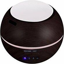 Fuibo Luft Aroma Luftbefeuchter Ultraschall Luft Aromatherapie Ätherisches Öl Diffusor 150 ml | Humidifier| Befeuchter für zuhause Yoga Büro SPA Schlafzimmer (coffee)