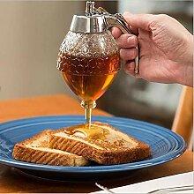 Fuitna Honigspender, Acryl, Honigglas, Honigdose,