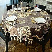 FuJia Tischdecke runde Haushalt Couchtisch Matte