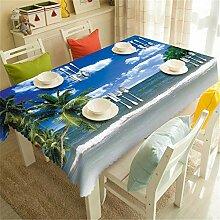 FuJia Tischdecke runde natürliche Tischdecke