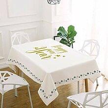 FuJia Tischdecken Moderne Wasserdichte tischdecke