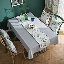 FuJia Tischdecken Tischdecke Baumwollleinen