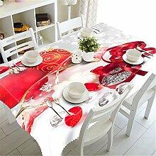 FuJia Weihnachtstag Dekoration Tischdecke Staub