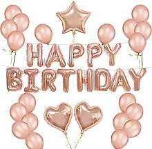 FUJIE Geburtstag Deko Happy Birthday Ballons