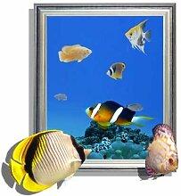 Fulanky 3D Colour Fish Wand Aufkleber Kinderzimmer