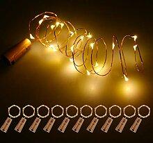Fulighture LED Flaschen-Licht, 2M Lichterkette