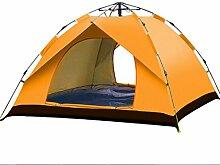 Full automatic sun protection tent 3-4 Outdoor Automatische Geschwindigkeit öffnen Regen Sonnenschutz Single-Layer-Zelt,Orange