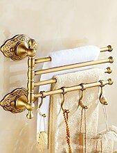 Full Copper Handtuch Rack / Handtuch Rack Thick Antique Rotierende Handtuch Bar (eine Vielzahl von Styles zur Auswahl) ( Farbe : 4 )