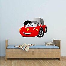 Full Farbe Cartoon Racing Auto Wand Aufkleber jungen Schlafzimmer Aufkleber Wandbild Transfer wsd215