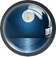 Full moon star and oceanKabinett Knöpfe