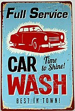 FULL SERVICE CAR WASH USA Metal Poster Bar PubTavern Wanddekor Zeichen Zinn Plakette