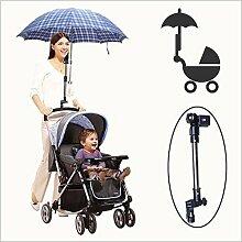 Fulla2116 Verstellbarer Regenschirmhalter Sonnenschirmhalter für Baby Kinderwagen Fahrrad