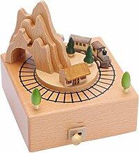 FULLANT Spieldose mit Musik Spieluhr Holz Music