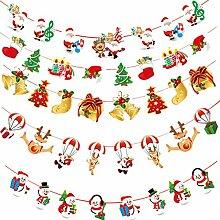 Fully 10stk. /Set Merry Christmas Schneeman Glocke