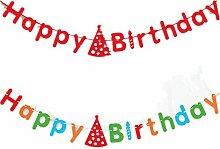 Fully 2stk. Geburtstag Happy Birthday Schrift