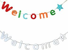 Fully 2stk. Willkommen Welcome Schrift String