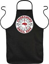 Fun Grillschürze: Feierabend Grill Zeit -