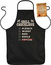 Fun Grillschürze: Grill Checkliste - schwarze