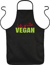 Fun Grillschürze: Ich grille Vegan - schwarze