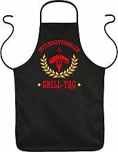 Fun Grillschürze: Internationaler Grill-Tag -