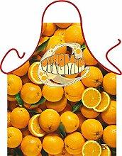 Fun Grillschürze: Orange - bedruckte Grill- und Kochschürze mit gratis Urkunde