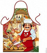 Fun Grillschürze: Osteria - bedruckte Grill- und Kochschürze mit gratis Urkunde