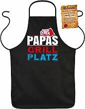 Fun Grillschürze: Papas Grill Platz - schwarze