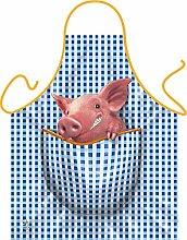 Fun Grillschürze: Schweinchen - bedruckte Grill- und Kochschürze mit gratis Urkunde