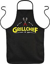 Fun Grillschürze: Stay wild Grillchef - schwarze Grill- und Kochschürze