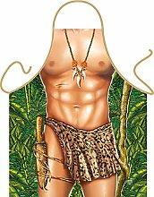 Fun Grillschürze: Tarzan - bedruckte Grill- und Kochschürze mit gratis Urkunde
