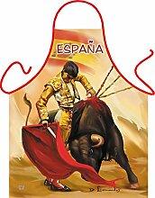 Fun Grillschürze: Torrero - bedruckte Grill- und Kochschürze mit gratis Urkunde