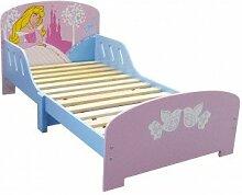 Fun House 712240Fun House Disney Prinzessinnen Bett Mädchen mit Latten MDF pink 144x 77x 59cm