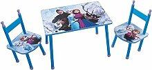 Fun House 712505Disney Eiskönigin Set Tisch mit 2Stühle für Kinder MDF blau 60x 40x 44cm