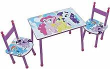 Fun House 712524My Little Pony Set Tisch mit zwei Stühlen für Kinder MDF rosa 60x 40x 44cm