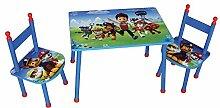 Fun House 712535pat' Patrouille Set Tisch mit zwei Stühlen für Kinder MDF blau 60x 40x 44cm