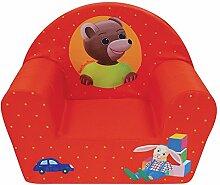 Fun House 712583Kleiner Bär Sessel Club für Kinder Schaumstoff/Bezug Polyester Rot 52x 33x 42cm