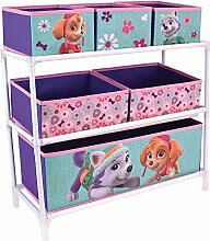 Fun House 712746Regal mit 6Fächer für Kinder Metall/Polyester/Karton violett 66x 30x 63,5cm