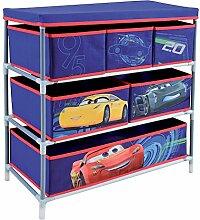 Fun House 712765Regal mit 6Fächer/Deckel für Kinder Metall/Polyester/Karton blau 66x 30x 63,5cm